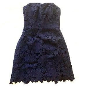 WORN ONCE Lilly Pulitzer Navy Strapless Dress